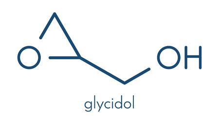 Glycidol molecule. Skeletal formula. Stock Photo