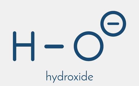 hydroxide: Hydroxide anion, chemical structure. Skeletal formula.