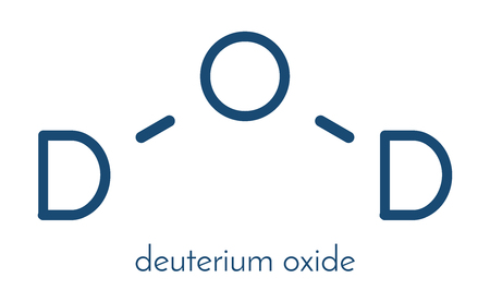 Deuterium oxide (heavy water) molecule. Skeletal formula. Stock fotó