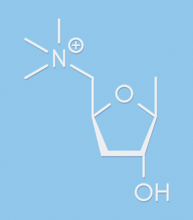 acetylcholine: Muscarine mushroom toxin molecule. Agonist of the muscarinic acetylcholine receptors. Skeletal formula.