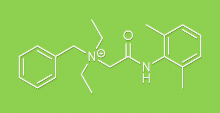 Denatonium bittering agent molecule. Skeletal formula.