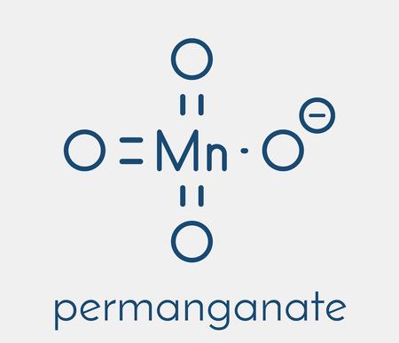 Permanganate anion, chemical structure. Skeletal formula.