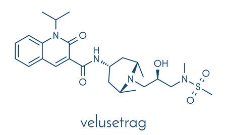 gastroparesis: Velusetrag gastroparesis drug molecule. Skeletal formula.