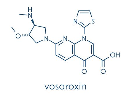 aml: Vosaroxin cancer drug molecule. Skeletal formula.