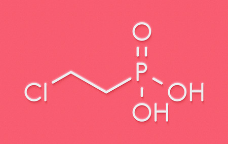 Ethephon plant growth regulator molecule. Skeletal formula.