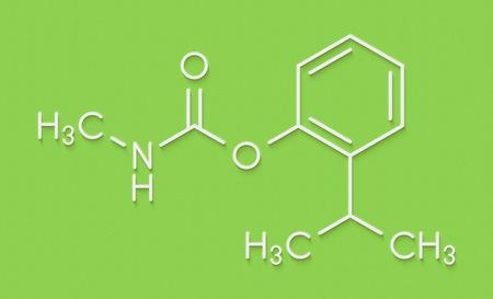 Isoprocarb insecticide molecule. Skeletal formula.