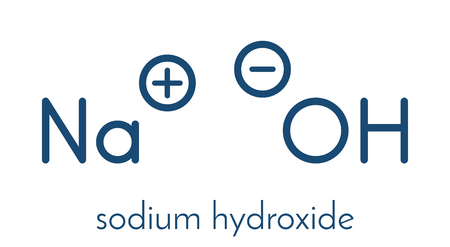 hydroxide: Sodium hydroxide chemical structure.