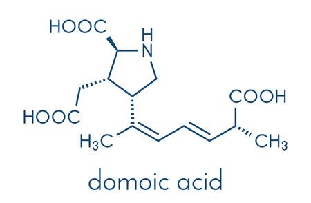 Domoic acid algae poison molecule.