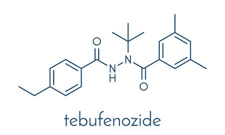 Tebufenozide insecticide molecule.