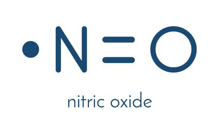 Nitroxide vrije radicalen en signaalmolecuul. Stock Illustratie