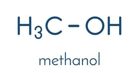 Methanol alcohol molecule. Illustration