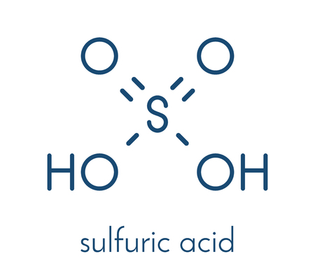 Sulfuric acid strong mineral acid molecule. Ilustração