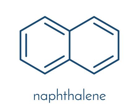 ナフタレン芳香族炭化水素分子。Mothball 成分として使用されます。骨格式。