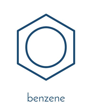 ベンゼンの芳香族炭化水素分子。石油、ガソリンのコンポーネントに重要です。 写真素材 - 85870638