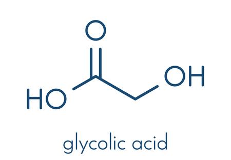 Glycolic acid (hydroacetic acid) molecule. Skeletal formula.