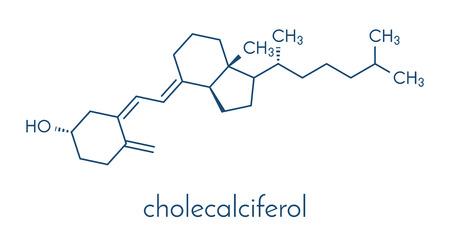 Vitamine D (D3, cholecalciferol) molecuul. Skeletformule. Stock Illustratie