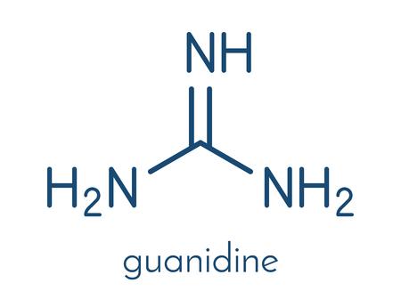 propellant: Guanidine molecule. Skeletal formula.