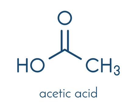 acetic acid: Acetic acid molecule. Vinegar is an aqueous solution of acetic acid. Skeletal formula. Illustration
