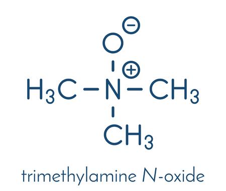Trimethylamine N-oxide (TMAO) molecule. Skeletal formula.
