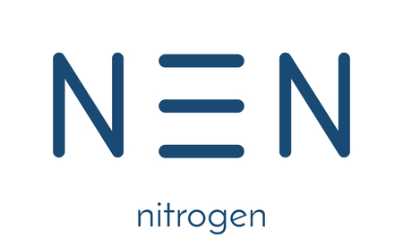 refrigerant: Elemental nitrogen (N2) molecule. Nitrogen gas is the main component of the Earths atmosphere. Skeletal formula. Illustration