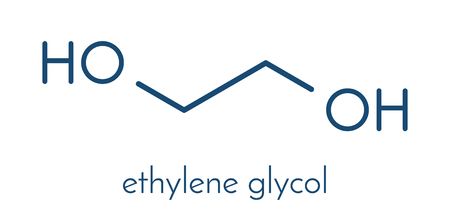 Ethylene glycol car antifreeze and polyester building block molecule. Skeletal formula.