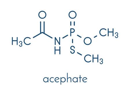 Acephate insecticide molecule. Skeletal formula. Иллюстрация