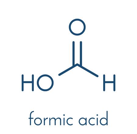 Formic acid molecule. Present in ant venom and in stinging nettle. Skeletal formula. Illustration