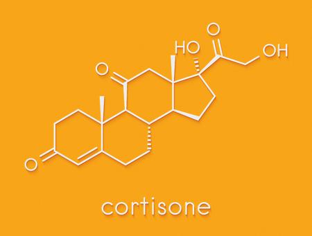 Cortisone stress hormone molecule. Skeletal formula. Stock Photo