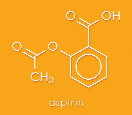 Acetylsalicylic acid (aspirin) drug molecule. Skeletal formula.