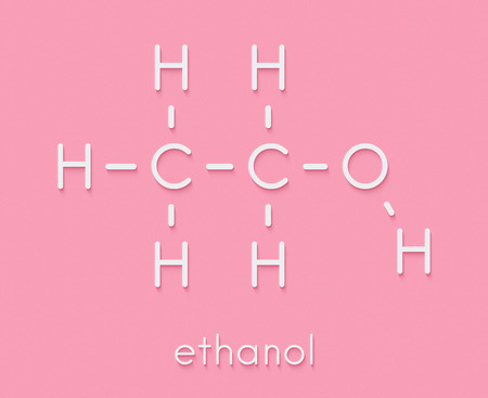 Alcohol Ethanol Ethyl Alcohol Molecule Chemical Structure