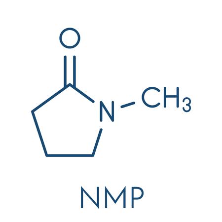 N Methyl 2 Pyrrolidone Nmp Chemical Solvent Molecule Skeletal