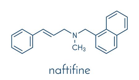 Naftifine antifungal drug molecule. Skeletal formula.