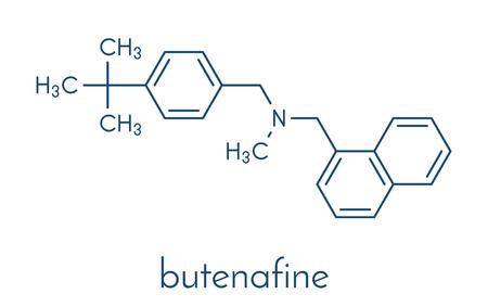 Butenafine antifungal drug molecule. Skeletal formula.