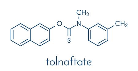 Tolnaftate antifungal drug molecule. Skeletal formula. Illustration