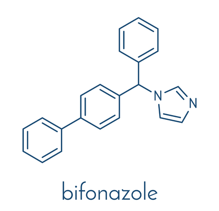 Bifonazole antifungal drug molecule. Skeletal formula.