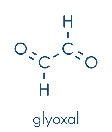 Glyoxal dialdehyde molecule skeletal formula vector illustration