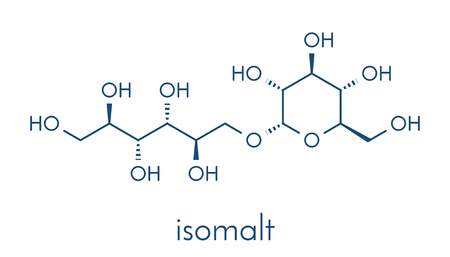 Isomalt sugar substitute molecule (one of two components shown). Skeletal formula.