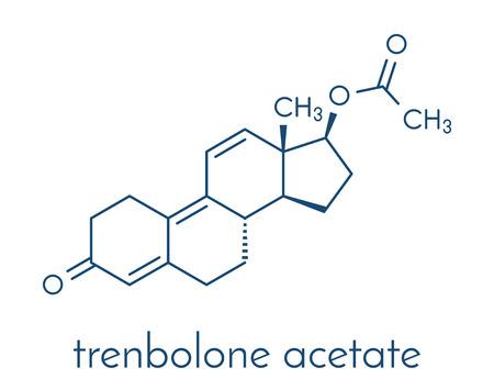 トレンボロン酢酸牛成長プロモーター。 骨格式。  イラスト・ベクター素材