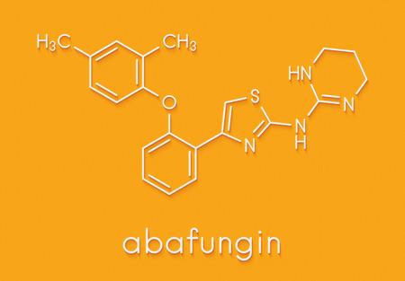 Abafungin antifungal drug molecule. Skeletal formula.