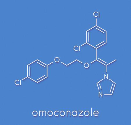 Omoconazole antifungal drug molecule. Skeletal formula.