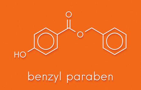 Benzyl paraben preservative molecule. Skeletal formula.