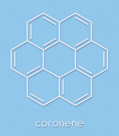 コロネン多環芳香族炭化水素 (PAH) 分子。骨格式。 写真素材