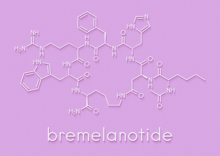 Bremelanotide female sexual dysfunction drug molecule (investigational). Skeletal formula.