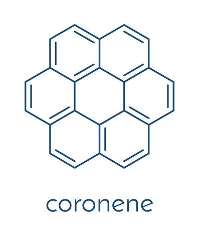 コロネン多環芳香族炭化水素 (PAH) 分子。骨格式。  イラスト・ベクター素材
