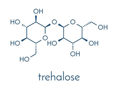 Trehalose (mycose, tremalose) sugar molecule. Skeletal formula.