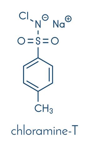 Chloramine-T (tosylchloramide) disinfectant molecule. Illustration