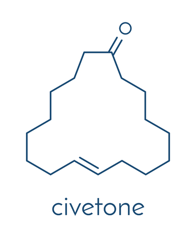 Civetone civet  pheromone molecule.