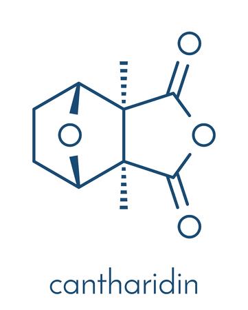 Cantharidin blister beetle poison molecule.