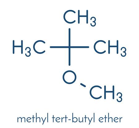 Methyl tert-butyl ether (MTBE, tBME) gasoline additive molecule. Stock Vector - 88182521