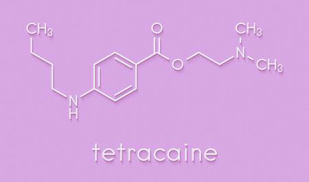 Tetracaine local anesthetic drug molecule. Skeletal formula.
